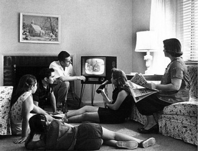 1958 Family Watching TV